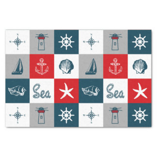 Nautical themed design tissue paper
