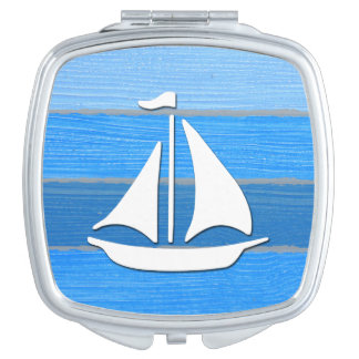 Nautical themed design travel mirrors