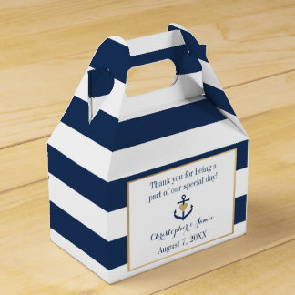 Nautical themed Favor Boxes - Anchor Design