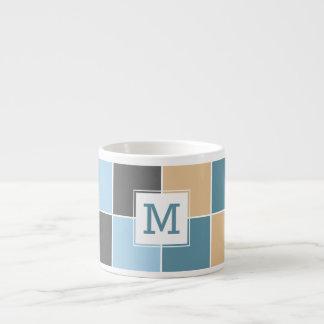 Nautical Tiles custom monogram espresso mug
