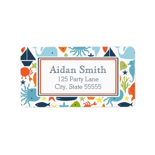 Nautical, Under the Sea Address Label