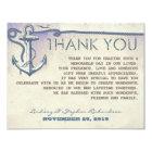 nautical vintage anchor wedding thank you cards