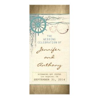 nautical vintage wedding programs personalized rack card