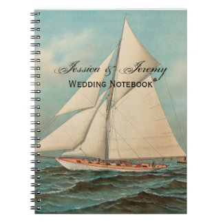 Nautical Vintage Yachts Racing #1 Spiral Notebook