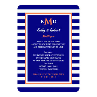 Nautical Vow Renewal Invitation