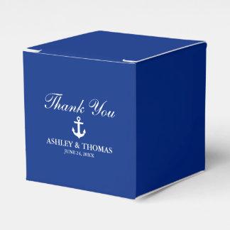 Nautical Wedding Anchor Blue Thank You Favour Box