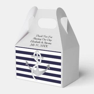 Nautical Wedding Anchor Modern Favor Boxes
