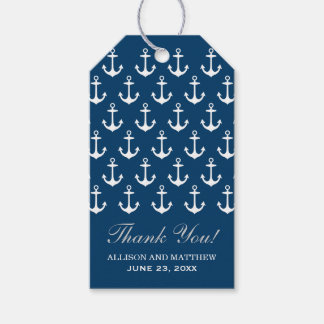 Nautical Wedding Favor Tags | Anchors and Stripes