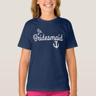 Nautical Wedding Junior Bridesmaid Tee with Anchor