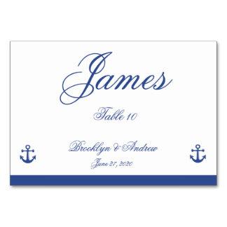 Nautical Wedding Place Cards