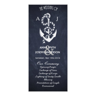 Nautical wedding program IV Rack Card