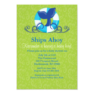 Whale Baby Shower Invitations