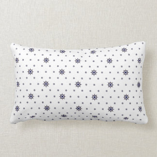 Nautical Wheel Dual-Patterned Pillow