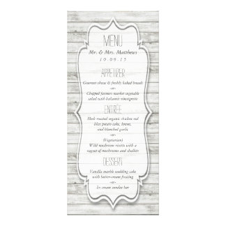 Nautical Whitewashed Wood Beach Wedding Collection 10 Cm X 23 Cm Rack Card