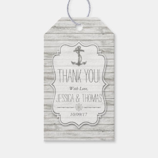 Nautical Whitewashed Wood Beach Wedding Collection Gift Tags