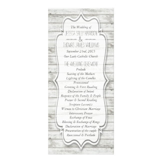 Nautical Whitewashed Wood Beach Wedding Collection Rack Cards