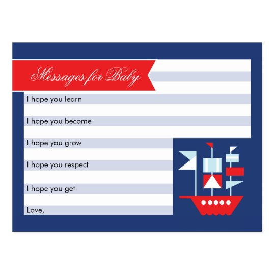 Nautical Wishes For Baby Card