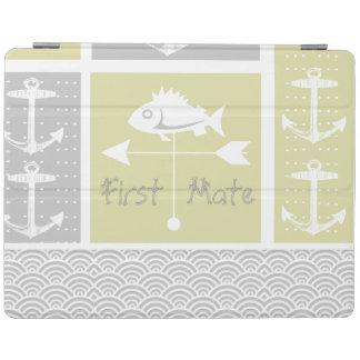 Nautical Yellow and Gray Anchor Fish Weather Vane iPad Cover