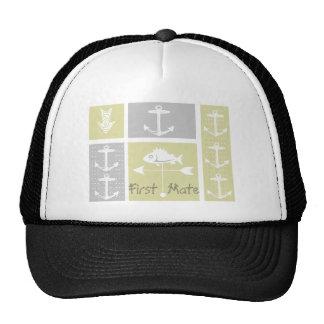 Nautical Yellow and Gray Anchor Fish Weather Vane Hats