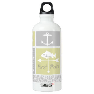 Nautical Yellow and Gray Anchor Fish Weather Vane SIGG Traveller 0.6L Water Bottle