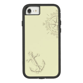 Nautik - iPhone wraps with compass and anchor Case-Mate Tough Extreme iPhone 8/7 Case