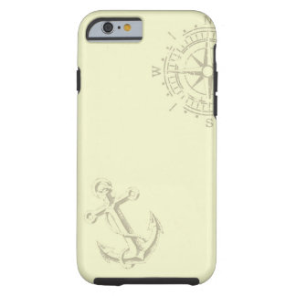 Nautik - iPhone wraps with compass and anchor Tough iPhone 6 Case