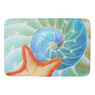 Nautilus And Starfish Bath Mat