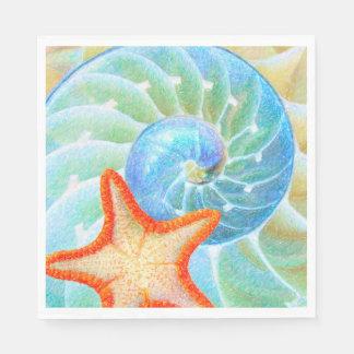 Nautilus And Starfish Disposable Napkins