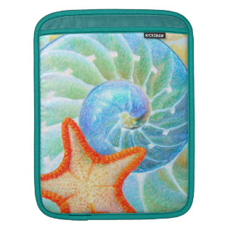 Nautilus And Starfish iPad Sleeve