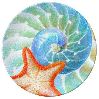 Nautilus And Starfish Plate