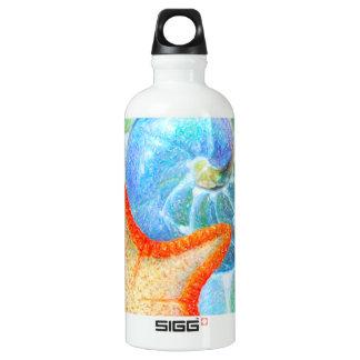 Nautilus And Starfish Water Bottle