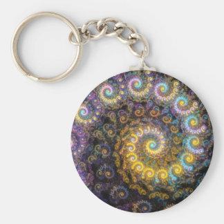 Nautilus fractal beauty key ring