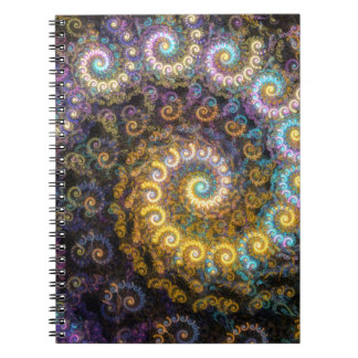 Nautilus fractal beauty notebook