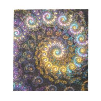 Nautilus fractal beauty notepad