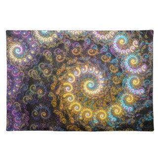 Nautilus fractal beauty placemat