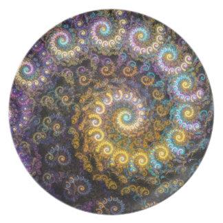 Nautilus fractal beauty plate