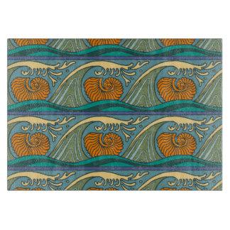 Nautilus Seashell Pattern Nouveau Cutting Board