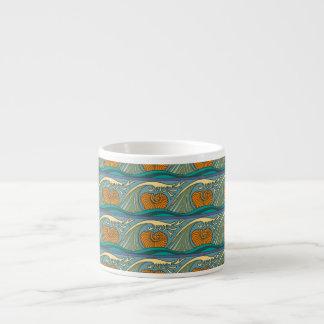 Nautilus Seashell Pattern Nouveau Espresso Cup