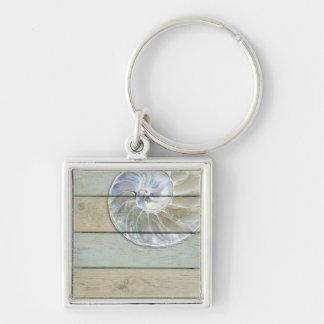 Nautilus Shell Key Ring