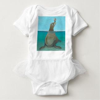 """""""Nautilus"""" The Sea Lion Baby Bodysuit"""