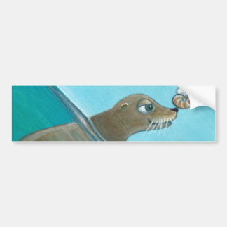 """Nautilus"" The Sea Lion Bumper Sticker"