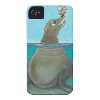 """""""Nautilus"""" The Sea Lion Case-Mate iPhone 4 Cases"""
