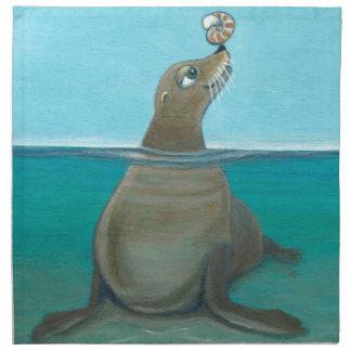 """""""Nautilus"""" The Sea Lion Napkin"""