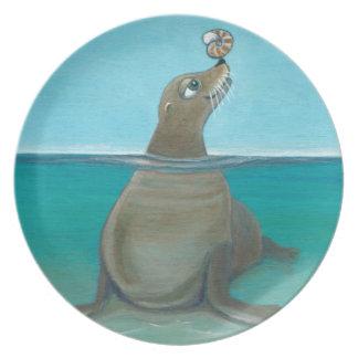 """Nautilus"" The Sea Lion Plate"