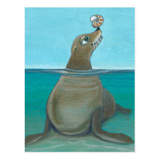 """Nautilus"" The Sea Lion Postcard"