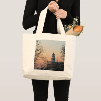 Nauvoo Temple at Twilight Large Tote Bag