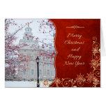 Nauvoo Temple Christmas Card - Lamppost (blank)