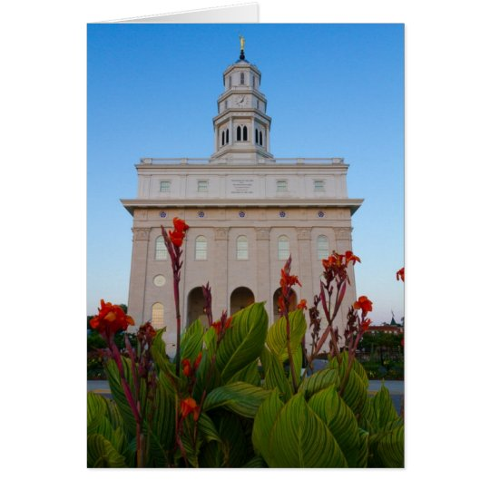 Nauvoo Temple Summer Flowers Card
