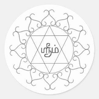 Navagraha-Kolam_Friday Classic Round Sticker