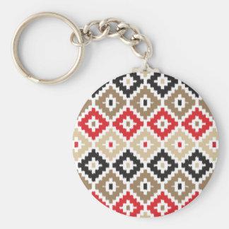 Navajo Aztec Tribal Print Ikat Diamond Pattern Keychains